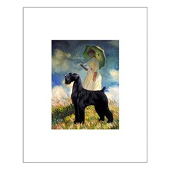 Umbrella/Giant Schnauzer (black) Small Poster