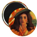 "Anne Bonny and the Orange Rog 2.25"" Magnet (10 pac"