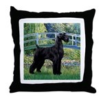 Lily Pond Bridge/Giant Schnau Throw Pillow