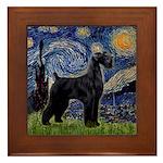 Starry Night / Schnauzer Framed Tile
