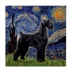 Starry Night / Schnauzer Tile Coaster