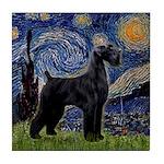 Starry Night / Schnauzer Tile Coaster