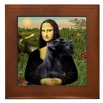 Mona Lisa /giant black Schnau Framed Tile