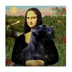 Mona Lisa /giant black Schnau Tile Coaster