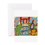 Seder Table Greeting Card