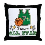 Future All Star Basketball Throw Pillow