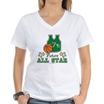 Future All Star Basketball Women's V-Neck T-Shirt