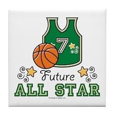Future All Star Basketball Tile Coaster