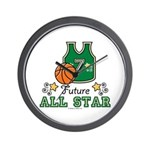 Future All Star Basketball Wall Clock