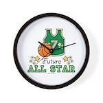 Future All Star Basketball Wall Clock
