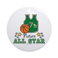 Future All Star Basketball Ornament (Round)