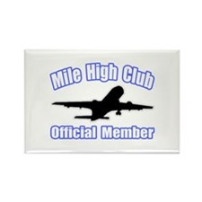 """Mile High Club"" Rectangle Magnet (100 pack)"