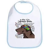 Chocolate Lab Brain Bib