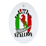 I Love My Italian Stallion Keepsake (Oval)