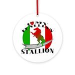 I Love My Italian Stallion Keepsake (Round)