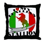 I Love My Italian Stallion Throw Pillow
