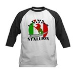I Love My Italian Stallion Kids Baseball Jersey