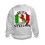 I Love My Italian Stallion Kids Sweatshirt