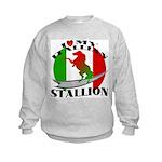 I Love My Italian Stallion Kids Sweatshirt