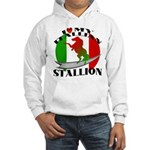 I Love My Italian Stallion Hooded Sweatshirt