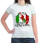 I Love My Italian Stallion Jr. Ringer T-Shirt