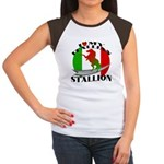 I Love My Italian Stallion Women's Cap Sleeve T-Sh