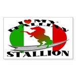 I Love My Italian Stallion Rectangle Sticker