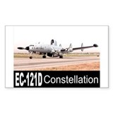 EC-121 Warning Star Rectangle Decal