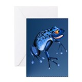 Fun Blue Frog Greeting Card