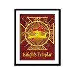 Masonic Knights Templar Framed Panel Print