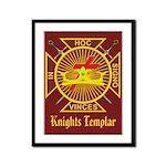 Masonic Knights Templar Framed Panel Print