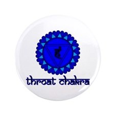"Throat Chakra 3.5"" Button"