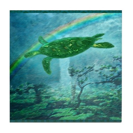 Rainforest Turtle Tile Coaster