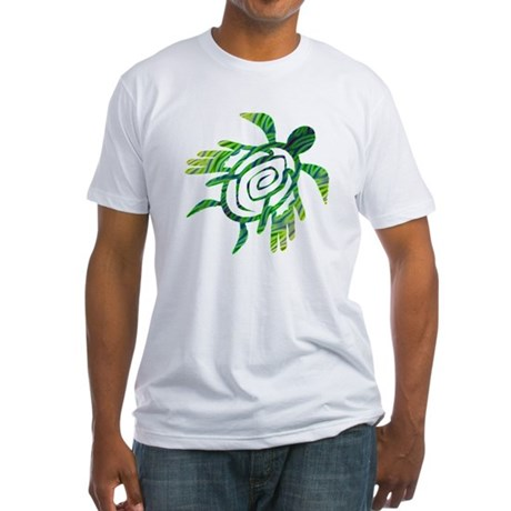 Winged Turtle Fitted T-Shirt