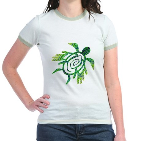 Winged Turtle Jr. Ringer T-Shirt