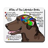 Chocolate Lab Brain Mousepad