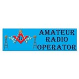 Amateur Radio Mason Bumper Car Sticker