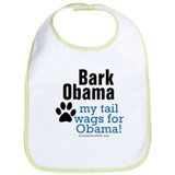 My tail wags for Obama Bib