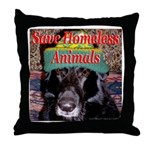 Save Homeless Animals Throw Pillow