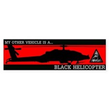 Black Helicopter Bumper