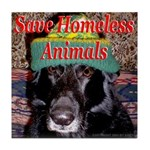 Save Homeless Animals Tile Coaster