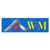 Masonic WM Canada Bumper Car Sticker
