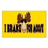 I Brake for MOOSE Rectangle Sticker 10 pk)
