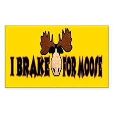 I Brake for MOOSE Rectangle Decal
