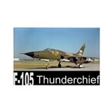 F-105 Thunderchief Rectangle Magnet (10 pack)