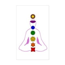 Chakras - Mandalas Rectangle Decal