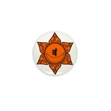 Sacral Chakra Mandala Mini Button (10 pack)