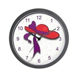 Red Hatter Wall Clock