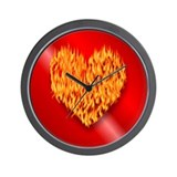 I Love Firemen! Wall Clock