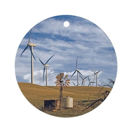 Blue Wind Ornament (Round)